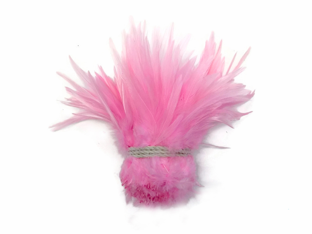Beautiful Rooster feathers dyed pink 4-6 inch (10-15cm) garment accessories, accessories, hair band