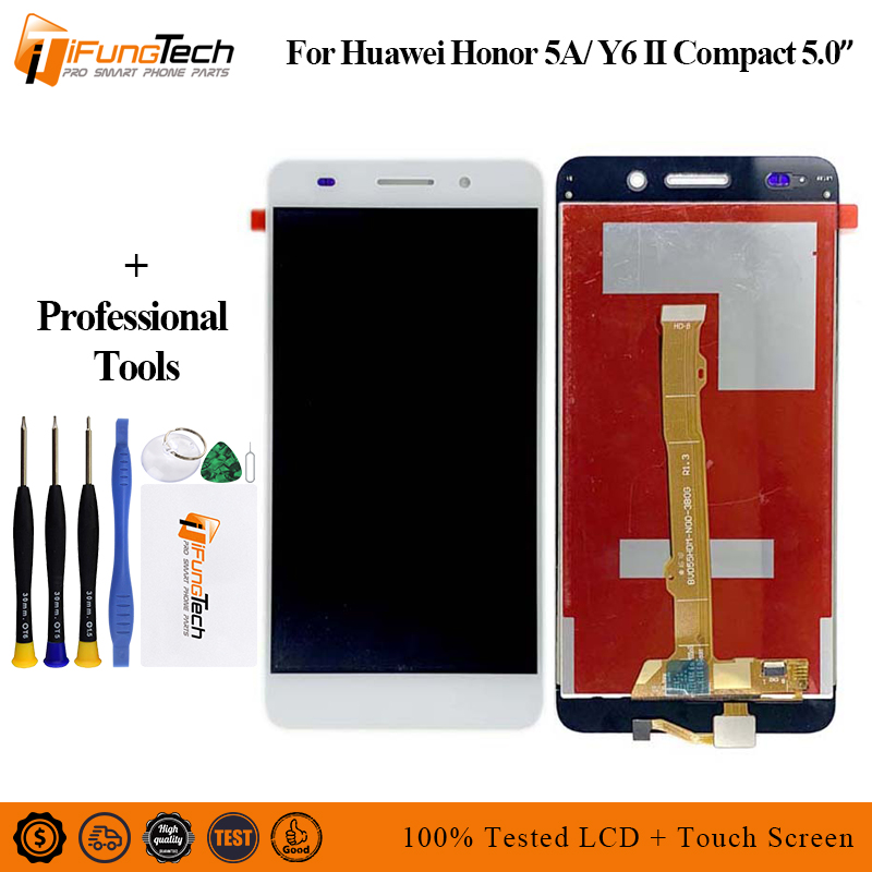 5.0 NEW For Huawei Honor 5A Y6 II Compact LYO-L01 LYO-L21 Full LCD DIsplay + Touch Screen Digitizer Assembly + Frame Cover5.0 NEW For Huawei Honor 5A Y6 II Compact LYO-L01 LYO-L21 Full LCD DIsplay + Touch Screen Digitizer Assembly + Frame Cover