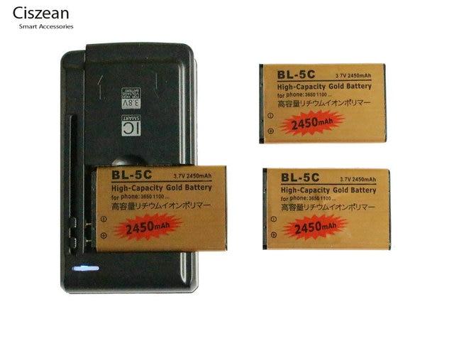 3x 2450mah bl 5c bl5c bl 5c gold replacement battery universal rh aliexpress com
