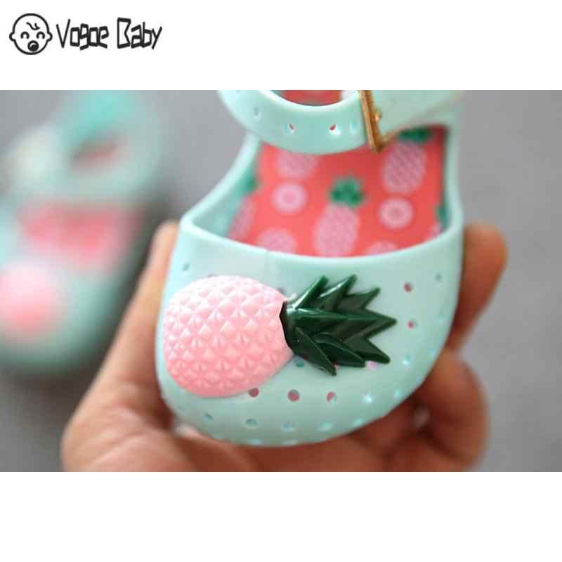 Mini Dứa Trái Cây Lỗ Mùa Hè Jelly Giày Trẻ Em Bán Đồng Bằng Mưa Khởi Động Cho Bé Bé Tập Đi Bé Gái Trẻ Em Xăng Đan 4829