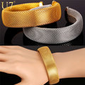 U7 Stainless Steel Mesh Bracelets For Women Men Fashion Jewelry Wholesale Gold Plated Party Cuff Bracelets H777