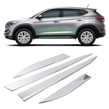 Car Body Door Side Cover Moulding Trim for Hyundai Tucson 2016 2017 2018 ABS Chrome Exterior Decoration