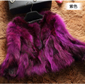 100% natural raccoon dog fur jacket women short design slim fur coat outerwear 2017 new arrival autumn and winter free shipping