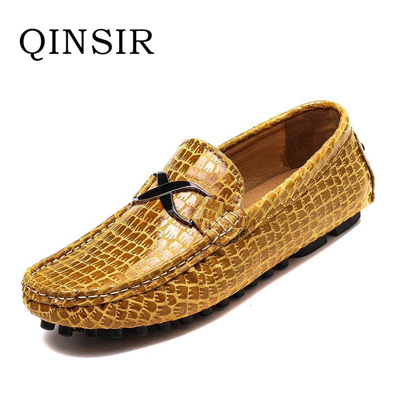 Breathable Soft Genuine Leather Flats Loafers Men Shoes Casual Luxury Fashion Slip On Driving Designer Sapatos For male Hot Sale big size 39 48 men flats summer genuine leather loafers breathable driving shoes moccasines slip on male casual shoes xk032808
