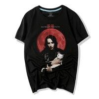 Waidx Marilyn Manson T-shirt Hommes Cool Punk Chanteur thirts 3D Imprimer Coton Haut Transfert T-shirts Costume Homme Drop Shipping