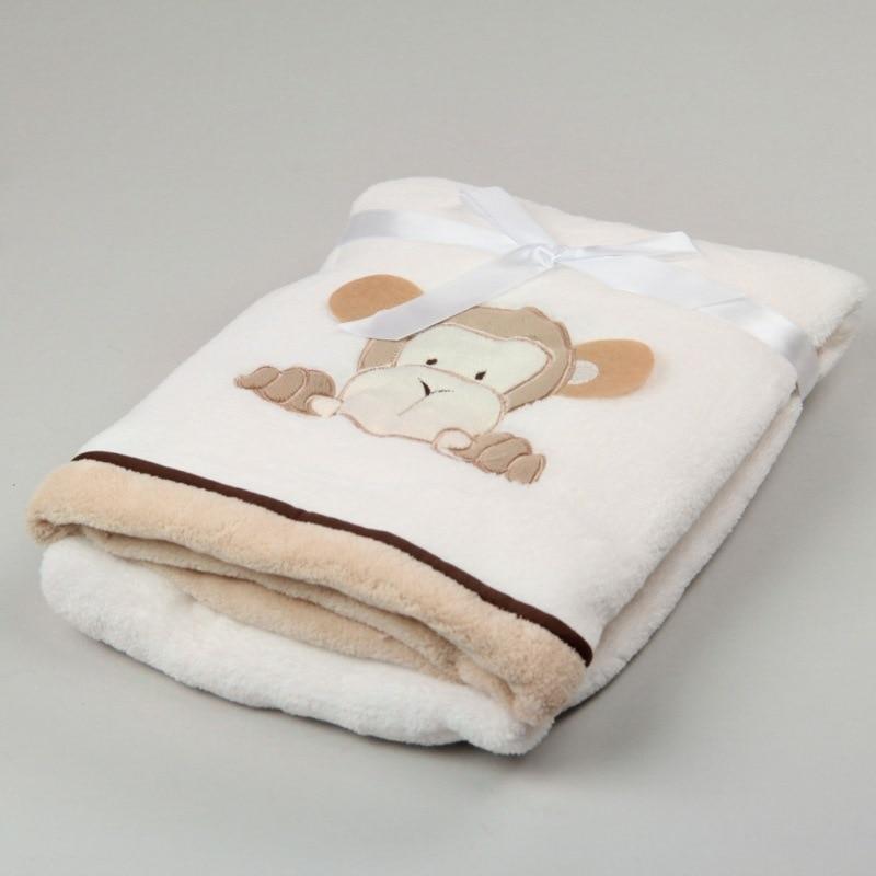 Blanket & Swaddling Baby Bedding 76*102cm Super Soft Polyster Baby Blanket Infant Crib Bedding Cartoon Monkey Rabbit Bear Blanket Newborn Gift For Boys Girls
