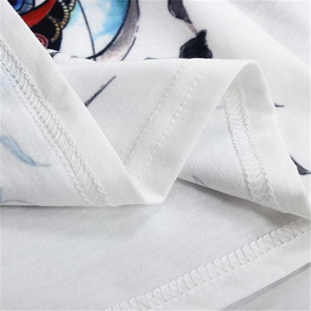STERNBILD Plus Size S-4XL Ethnic Sunflower Print Tshirt for Women Harajuku Short Sleeve Women T-shirt Fashion Tops Curve Appeal