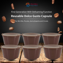 2pcs/3pcs Refillable Dolce Gusto coffee Capsule nescafe dolce gusto reusable  Dolce Gusto Capsules With 1Pcs Spoon Taste Sweet