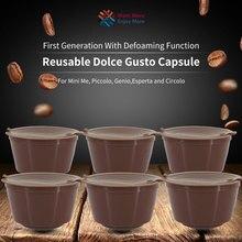 Cápsula de dolce gusto recarregável, cápsulas de café nescafé dolce gusto, reutilizável, com 1 peça colher sabor doce