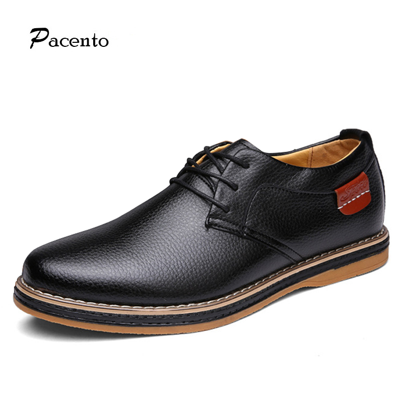 PACENTO New Luxury Brand Shoes Men Genuine Leather Mens Shoes Casual Oxford Winter Mens Shoes Top Quality Flats Sapato Masculino cbjsho brand men shoes 2017 new genuine leather moccasins comfortable men loafers luxury men s flats men casual shoes