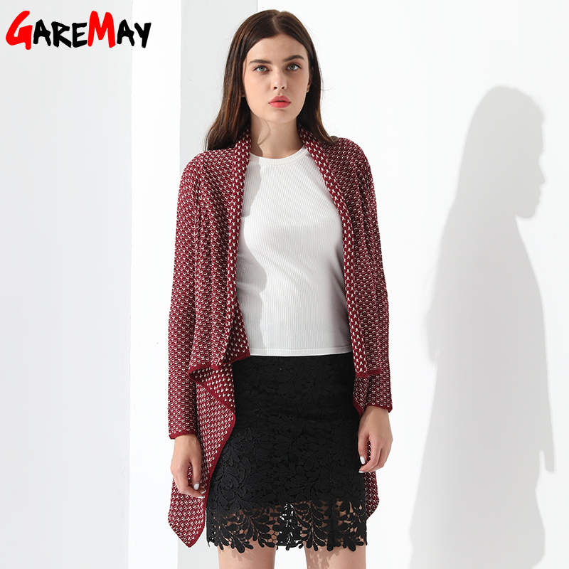 Knitted Cardigan Women Cversized Loose Tops Casaquinho Feminino Sweater Ladies Ponchos And Capes Long Cardigan Female GAREMAY