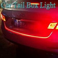 סטיילינג המכונית LED רצועת אורות בלם אור אוטומטי 2 ב 1 אדום ו כחול Strobe הפיכת אות אור אחורי מנורה לרכב 12 V תיבת זנב מכונית