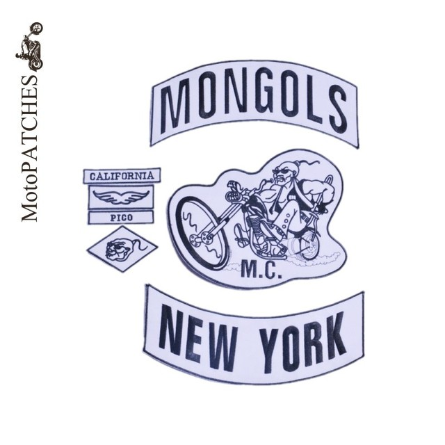 Mongols Patches For Jacket Vest Motorcycle Custom NEW YORK Bottom Mc Biker