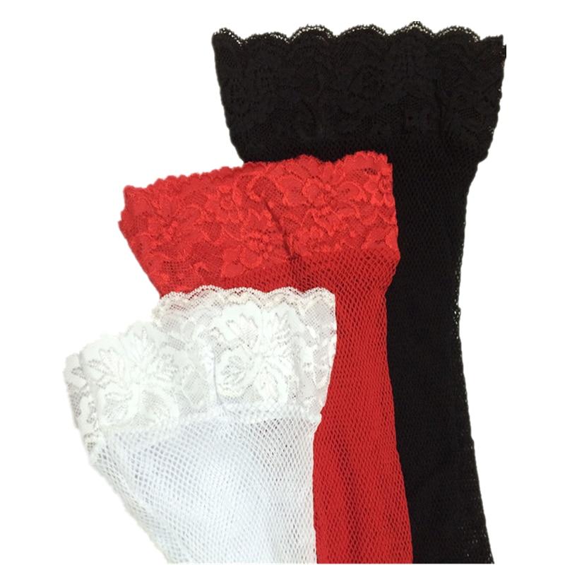 Врхунске чипкасте чипкасте чарапе Мрежасте мрежице Високе бијеле секси чарапе бедра Високе чарапе за жене