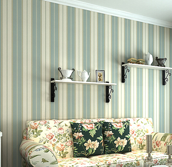 2016 new hot selling high-grade non-woven wall paper vertical stripes Contracted American country sitting room bedroom wallpaper 2016 new selling non woven wallpaper south east asia imitation embroidery american birds and flowers bedroom tv porch wallpaper