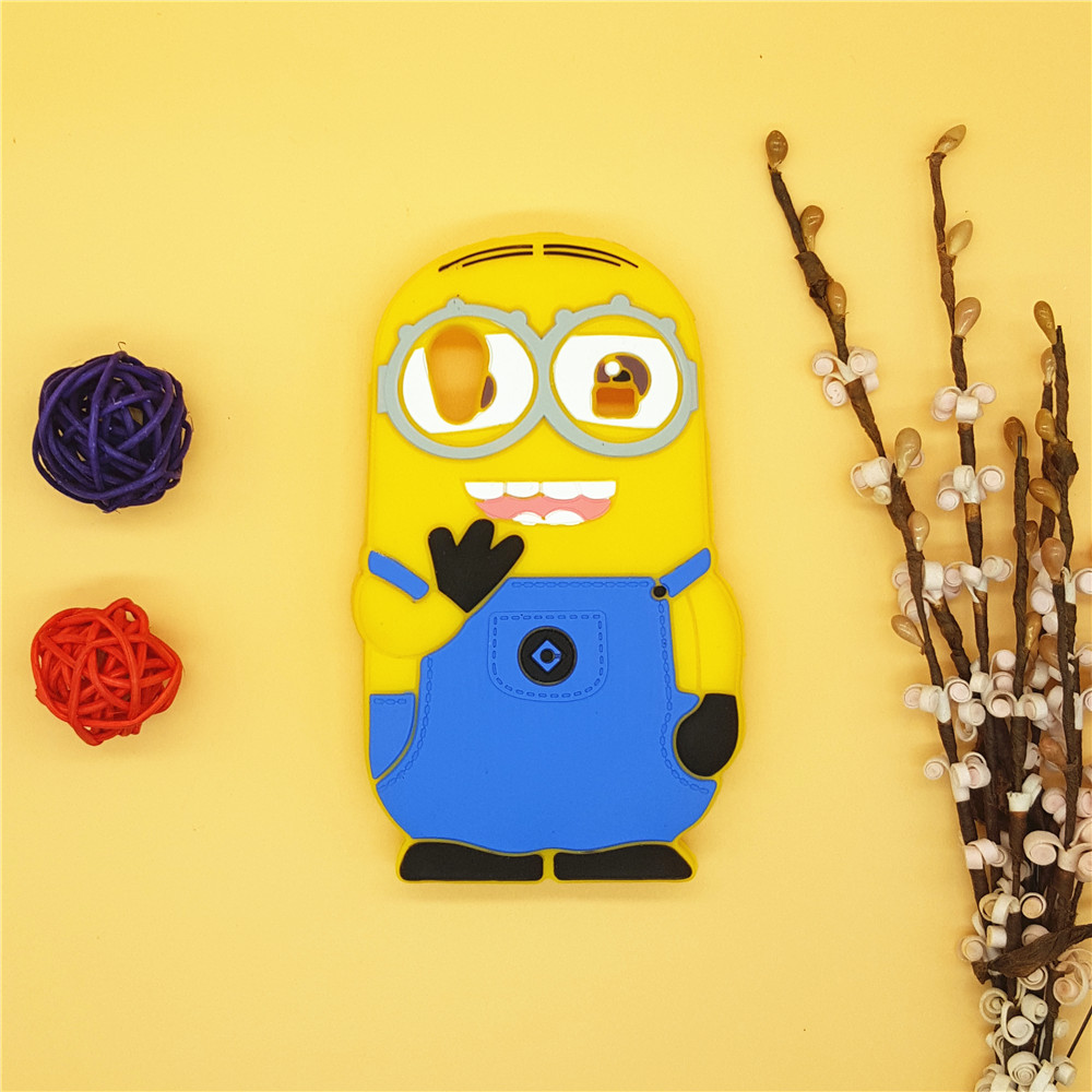 d9c23153bd7 NEW 3D Cartoon Minions Soft Silicone Case Despicable Me Yellow Minions Back  Cover For Samsung Galaxy