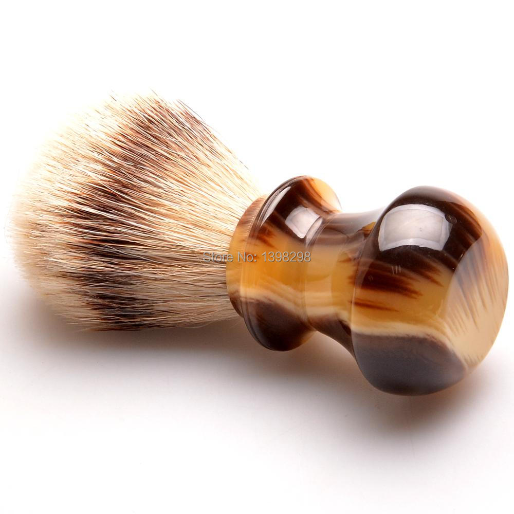 Factory promotion high quality silvertip shaving brush 22mm knots ox horn handle soft silvertip badger hair