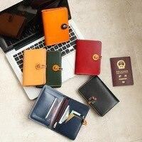 Passport Holder Genuine Leather Handmade Travel ID Credit Card Cover Designer Protector Vintage Multi function Cowhide case