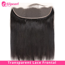 Прямой прозрачный кружевной фронтальной 13X4 уха до уха часть с детскими волосами предварительно вырезанные бразильские человеческие волосы Remy для наращивания, alipearl волос
