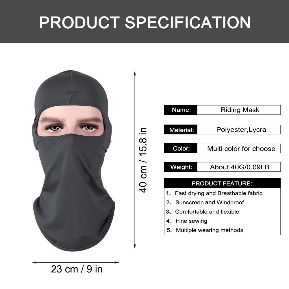 Image 5 - Motorcycle Balaclava Full Face Mask Warmer Windproof Breathable Airsoft Paintball Cycling Ski Shield Anti UV Men Sun Hats Helmet-in Motorcycle Face Mask from Automobiles & Motorcycles