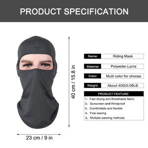 Image 5 - Motorcycle Balaclava Full Face Mask Warmer Windproof Breathable Airsoft Paintball Cycling Ski Shield Anti UV Men Sun Hats Helmet