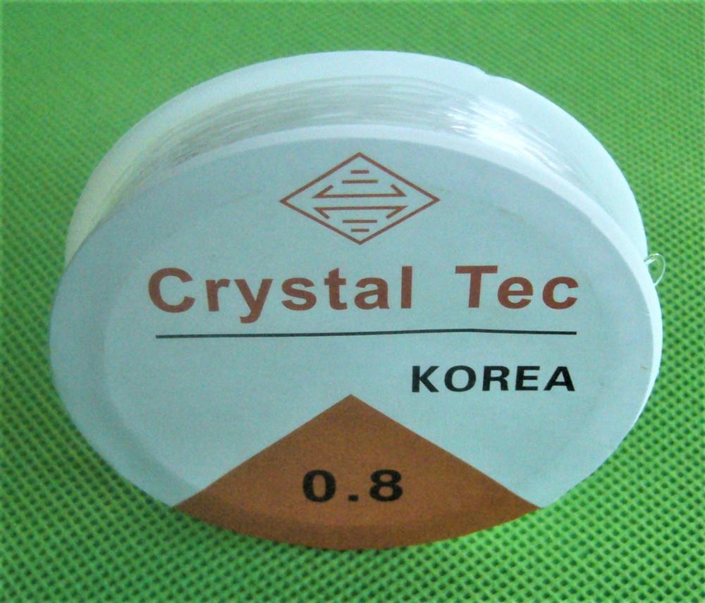 1 рулон 5 м-12 м (196-471 дюймов) длина 0,5-1,0 мм Диаметр Кристалл Упругие Бисер шнура Строка темы для DIY Цепочки и ожерелья Браслет