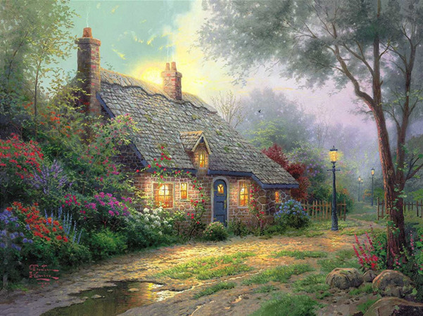 free shipping classical Thomas house garden light scenery canvas prints oil painting printed on canvas art decoration picture