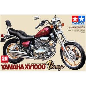 Image 3 - أطقم تجميع نموذج الدراجة النارية 1/12 مقياس ياماها XV1000 Virago معدات بناء المحرك ذاتية الصنع Tamiya 14044