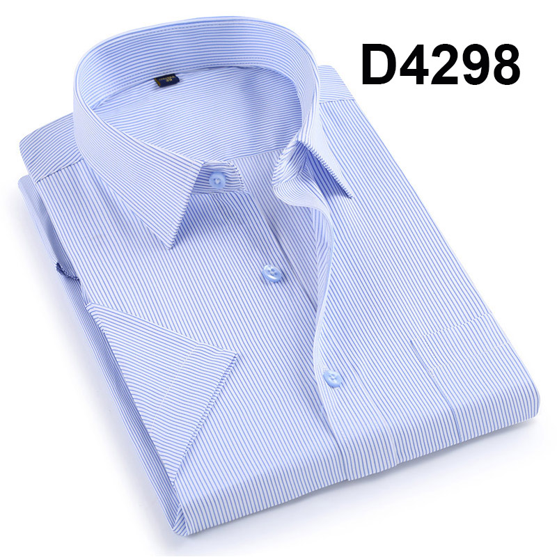 Davydaisy camisa masculina formal de manga curta,