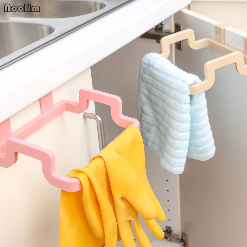 NOOLIM Kitchen Trash Bags Brackets Household Cabinets Rags Storage Rack Kitchen Trash Rack Kitchen Storage Accessories