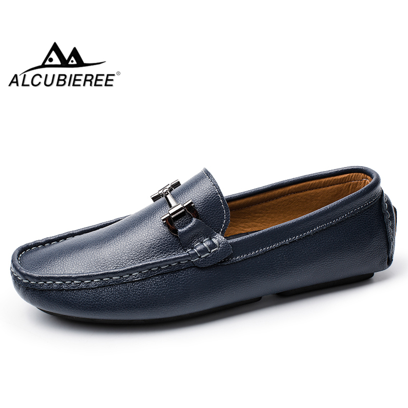 Hot Sale Solid Men Driving Gommino Loafers Slip On Leather Casual Boat Shoes