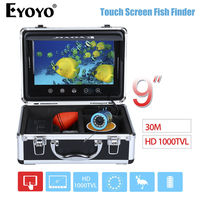 EYOYO WF09T 9 Screen HD 1000TVL 30M Ocean River Fishing Camera 12pcs White LED Adjustment Fishfinder