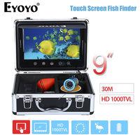 EYOYO WF09T 9 Screen HD 1000TVL 30M Ocean River Fishing Camera 12pcs White LED Adjustment Fishfinder