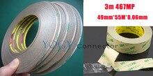 1 х 49 мм 3 М 467MP 200MP 2 Faces клейкой Лентой для Металла, резина, табличке Клей