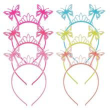 2019 New Style Rabbit Ears Butterfly Headband Kids Girls Hairband Plastic Animal Hair Hoop Women Accessories Headdress
