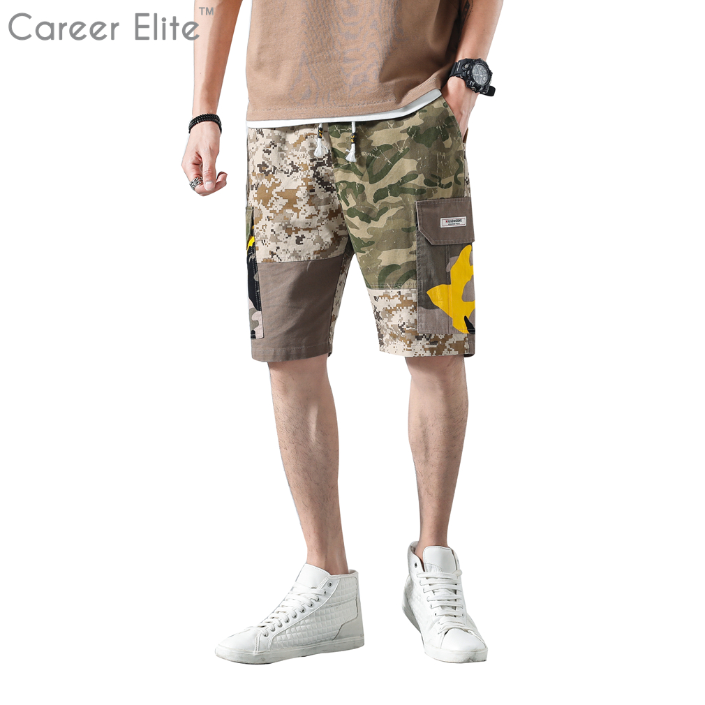 New Cargo Short Men Summer Top Design Camouflage Military Casual Mens Shorts Homme Cotton Fashion Fit Brand Clothing Masculino
