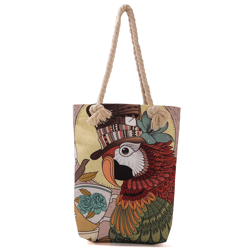 Canvas bag logo photo customized handbag canvas bag pattern picture print cloth tote bag women advertising students handbag in Top Handle Bags from Luggage Bags