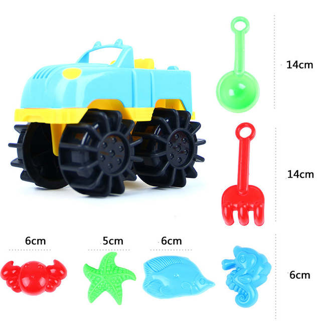 Online Shop 7pcs Set Plastic Beach Toy Summer Beach Game Jeep