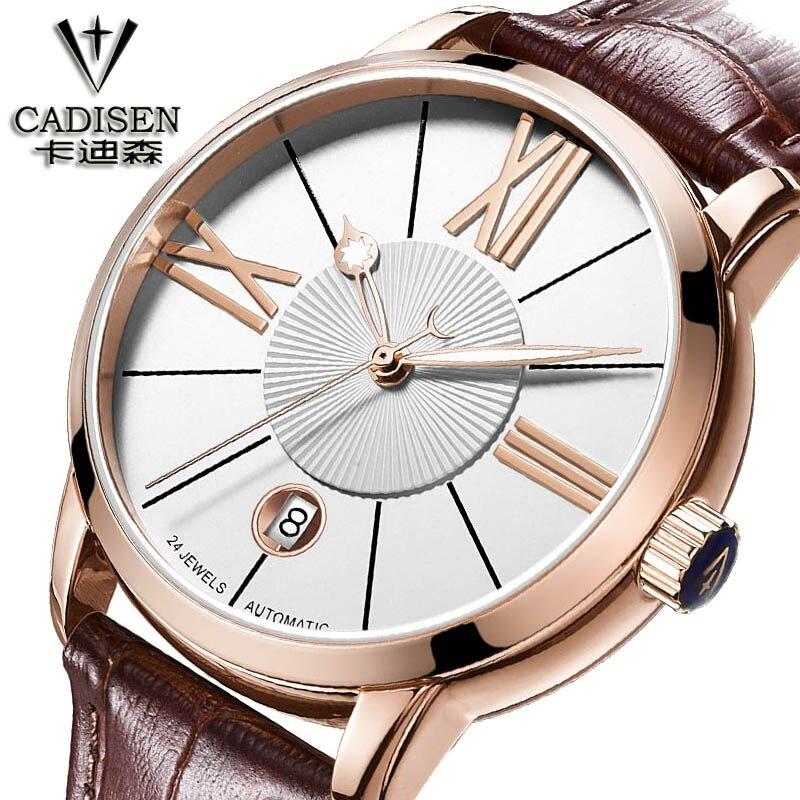 CADISEN Brand Watches Men Business mechanical Watch Male Wristwatches mechanical-watch Relogio Masculino Montre