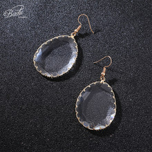 Badu Transparent Acrylic Earring Big Statement Geometric Dangle Drop Earrings Exaggerated Earrings for Women for Christmas badu 5 colors acrylic flower earrings for women big statement vintage dangle drop earrings wholesale
