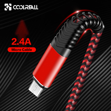 Coolreall 2.4A Micro USB Cable Fast Charge USB Data Cable Nylon Sync Cord  For Samsung Huawei Xiaomi  Andriod Micro usb phone universal nylon housing usb male to micro usb data sync