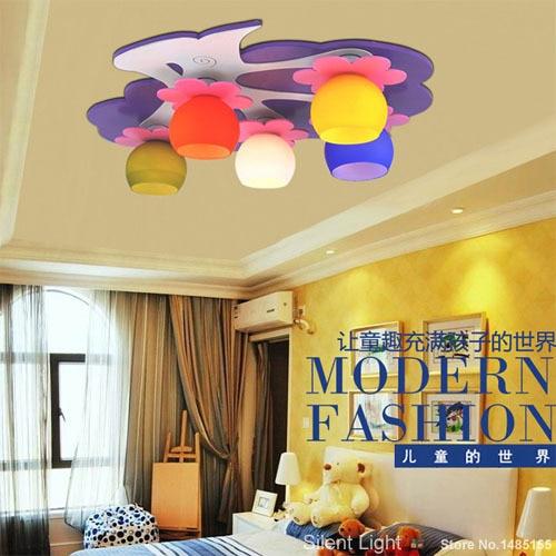 Apple Ceiling Light For Kids Girls Room Colorful Lamp