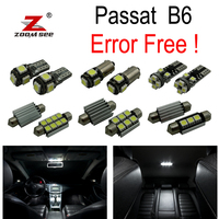 7pc X Canbus Error Free Volkswagen Passat B6 LED Interior Dome MapLight Kit Package 2006 2010