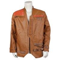The Force Awakens Finn Leather Jacket Coat Costume