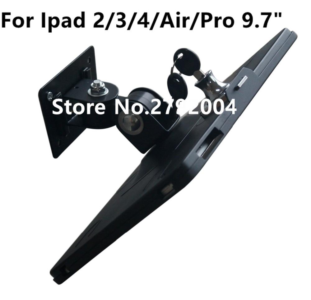 все цены на Tablet wall mount Ipad security lock display stand bracket kiosk antitheft case soporte de bloqueo de seguridad for Ipad 234 Air онлайн