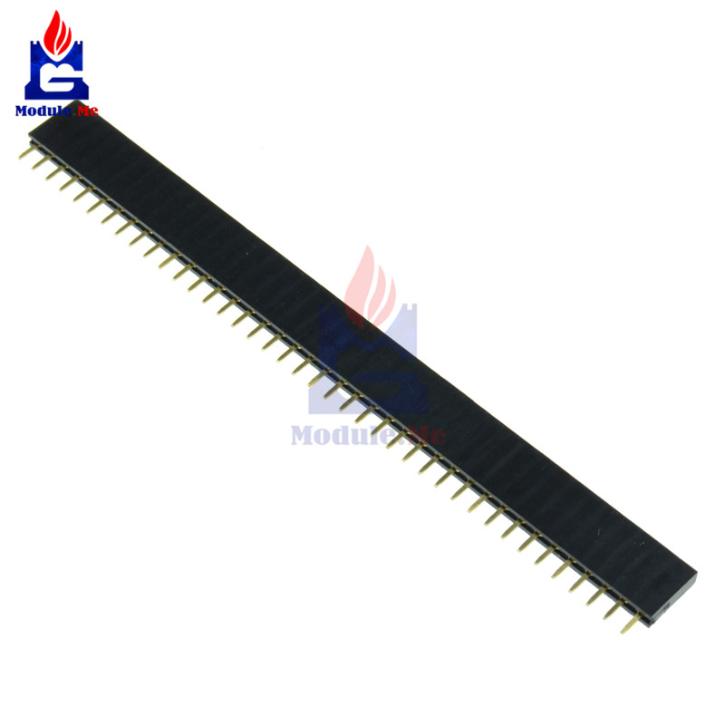 5PCS/Lot 2.54mm 40 Pin Female Single Row Pin Header Strip New