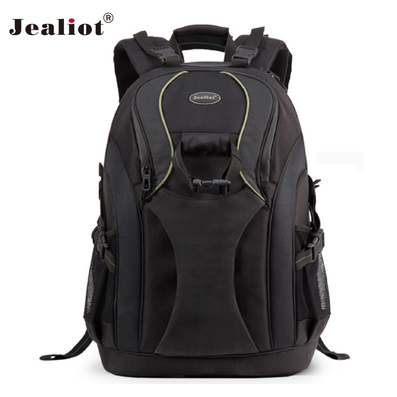 2017 Jealiot Multifunctional Professional Camera Bag laptop Backpack Video Photo Bags waterproof shockproof  case for DSLR Canon new pattern caden l5 camera backpack bag stylish nylon multifunction shockproof video photo bags fit for canon 50d 60d 100d 550d
