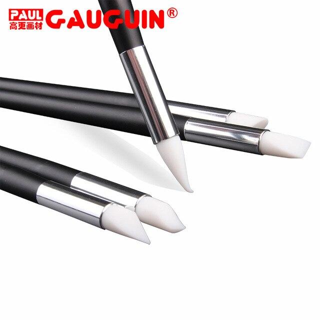 Medium Clay Shaping Silicone Pen Nail Art To Fingerprint Trace DIY Blank Design Paint Brush Pen Tip Cutting Tool 5pcs/set