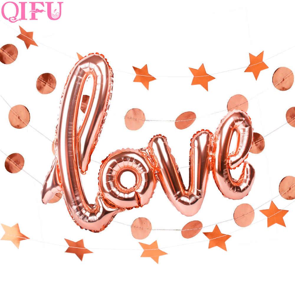QIFU Aluminium Folie Sagen, Liebe Ballon Decor Süße Familie Liebe Hause Ballon Überraschung Konfetti Pop Hochzeit Decor Party Versorgung