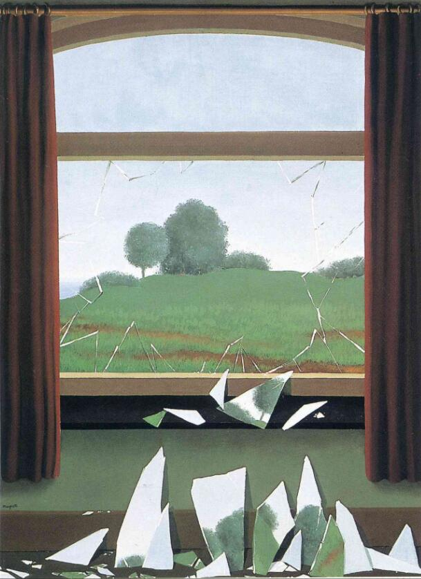 High quality Oil painting Canvas Reproductions The Key to the Fields (1936) By Rene Magritte Painting hand painted
